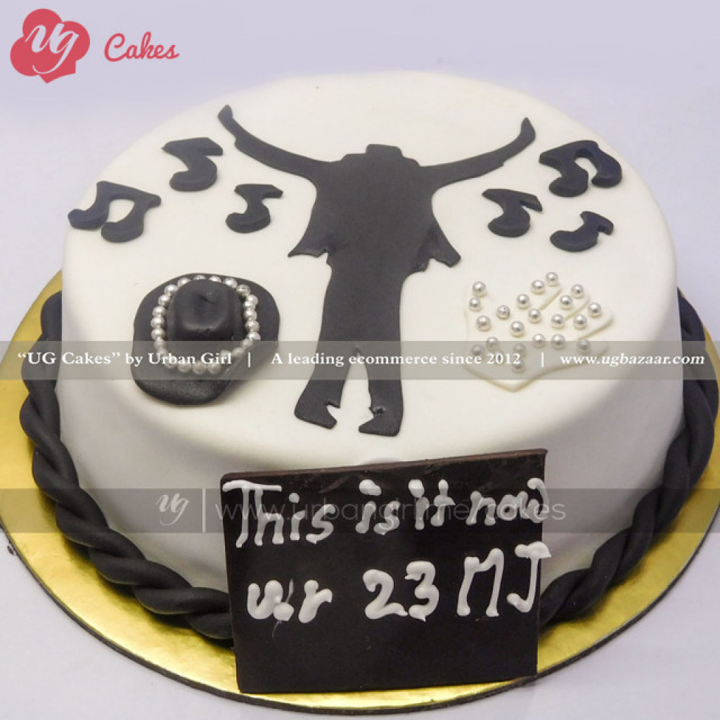 Wondrous Michael Jackson Themed Cake Personalised Birthday Cards Cominlily Jamesorg