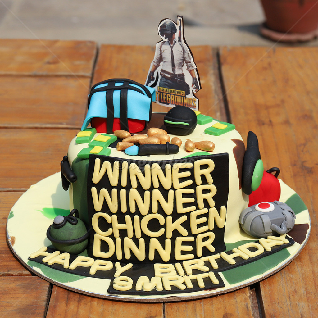 Pubg Themed Birthday Cake