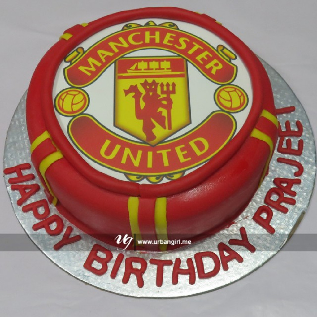 Miraculous Manchester United Cake Birthday Cards Printable Nowaargucafe Filternl