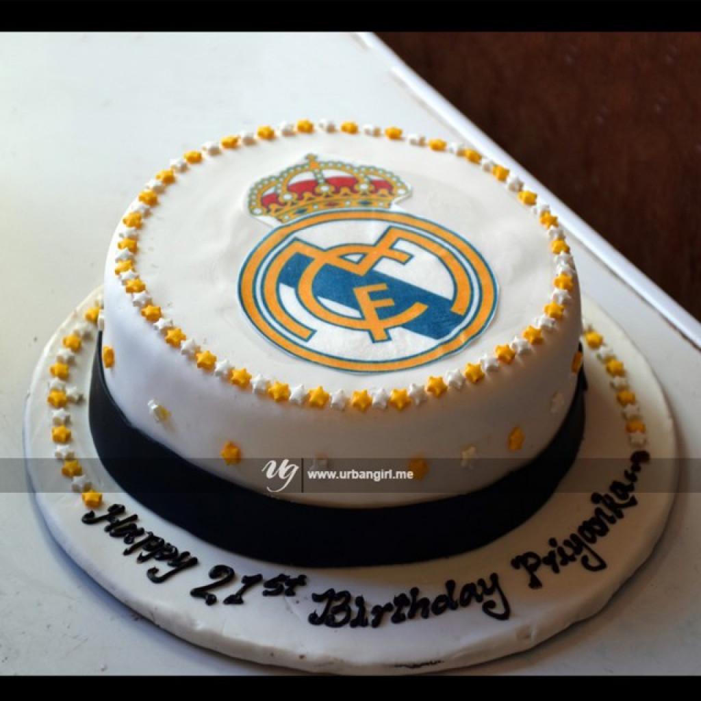Groovy Real Madrid Printed Birthday Cake Funny Birthday Cards Online Elaedamsfinfo