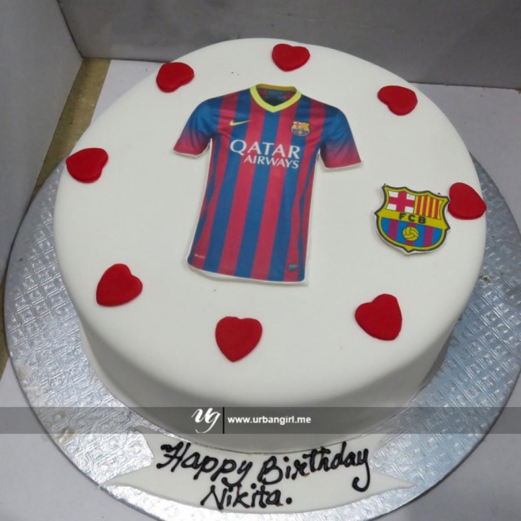 Fc Barcelona Printed Birthday Cake