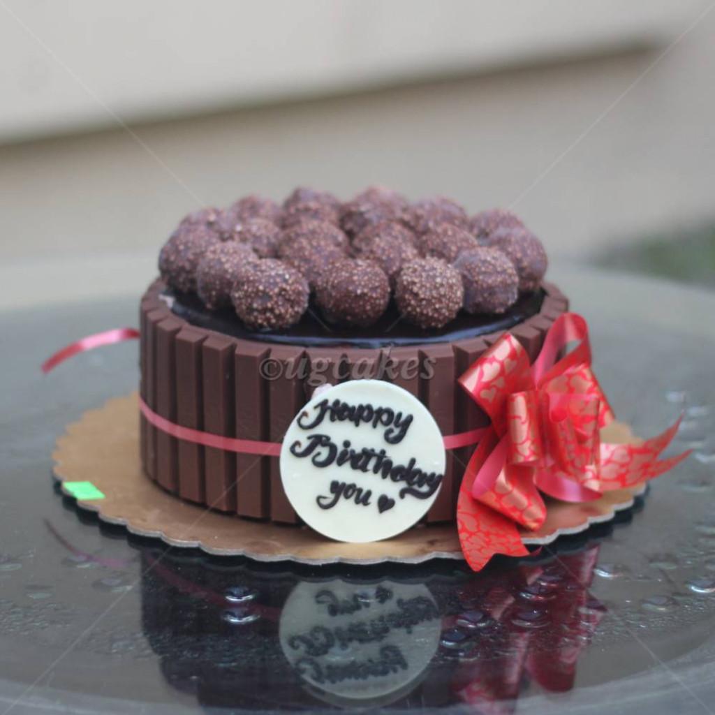 Brilliant Kitkat Choclate Birthday Cake Birthday Cards Printable Opercafe Filternl