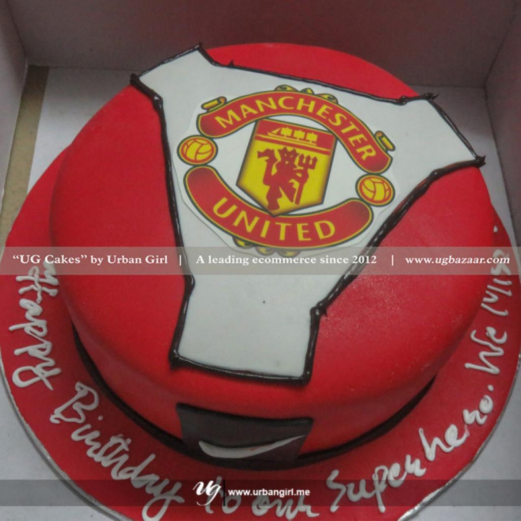 manchester united inspired design cake manchester united inspired design cake