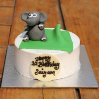 <p>A cake with fondant elephant design at the top which will obviously make your kids happy. Delicious flavor sponge cake decorated beautifully, this cake makes the prettiest birthday celebration cake. The cake can be delivered online, which is the best online cake delivery service in Kathmandu. All cakes are baked with hygiene and quality in the top of our priority at our own state-of-the-art baking facility and quality checked twice by our expert QC team before delivery. You can send cakes or gifts to your loved ones in Nepal or shop online for yourself in Nepal with UG Bazaar, a pioneer in online shopping in Nepal.</p>