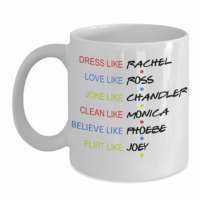 <p>This colorful printed cup which is FRIENDS themed. This cup accurately tells what's the best from each of the characters.</p>