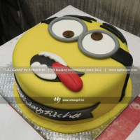 <p>This minion looks very silly sticking his red tongue out from his mouth. Well, he is like that because he wants to make your party funnier. Get this yellow cake and have fun with this silly minion. This is the perfect cake to greet the fan of minions at the moment of their birthday. Let them have a great time with their friends in a massive way by surprising this delicious cake from UG Bakery. The cake can be delivered online, which is the best online cake delivery service in Kathmandu. All cakes are baked with hygiene and quality in the top of our priority at our own state-of-the-art baking facility and quality checked twice by our expert QC team before delivery. You can send cakes or gifts to your loved ones in Nepal or shop online for yourself in Nepal with UG Bazaar, a pioneer in online shopping in Nepal.</p>