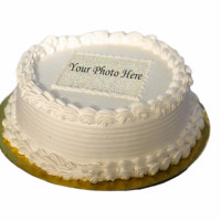 This is a sample design for a photo printed cake. The design will be changed to suit the print size and shape. Customize your own photo on this delicious cake for your special day. The cake can be delivered online, which is the best online cake delivery service in Kathmandu. 