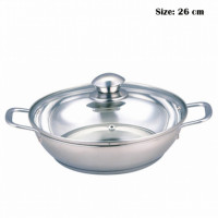 Model Name:KADHAI, Model No:BSB-209,  Multi-Layer Stainless Steel Cookware, copper and aluminium layer inside, food grade with Induction Base.