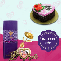 <p>The best love is the kind that awakens the soul; that makes us reach for more, that plants the fire in our hearts and brings peace to our minds. That's what I hope to give you forever. Give your special one with the combos of Heart shaped Cake and Golden Rose Love Frame and make your special day more special with the UG combos.</p>