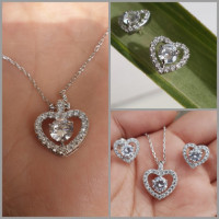 This beautiful necklace is for all the special occasions. It is three times Rhodium plated and is top quality swiss CZ.