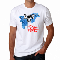 <p>Printed White Shivaratri Tshirt. Half Sleeve. Round Neck. Size: S, M, L. XL Color: White - 100% Polyester - Soft - best quality product at a reasonable price</p>