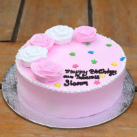 Birthday Cake for beautiful souls decorated with creamy roses. Order online with free home delivery if you are too scared to take the risk to carry it all the way to the venue.   All cakes are baked with hygiene and quality in the top of our priority at our own state-of-the-art baking facility and quality checked twice by our expert QC team before delivery. You can send cakes or gifts to your loved ones in Nepal or shop online for yourself in Nepal with UG Bazaar, a pioneer in online shopping in Nepal.